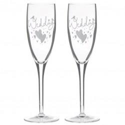 Vestuvinės šampano taurės, sidabruotos