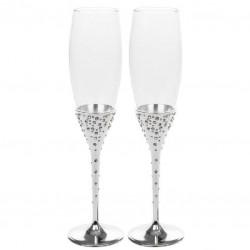 Vestuvinės šampano taurės, pasidabruotos