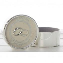 Vestuvinė dėžutė, sidabruota su cirkoniu