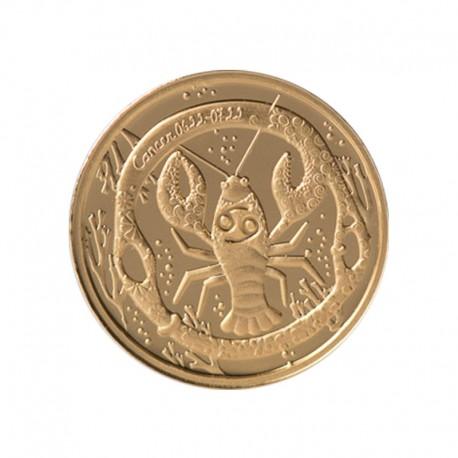 """Auksinis medalionas Zodiako ženklas """"Vėžys"""""""