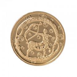 """Auksinis medalionas Zodiako ženklas """"Šaulys"""""""