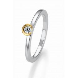 Žiedas Breuning Bridal 3 sidabrinis su 0,125 cirkoniu