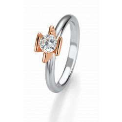 Žiedas Breuning Bridal 3 auksinis su 0,5ct briliantu