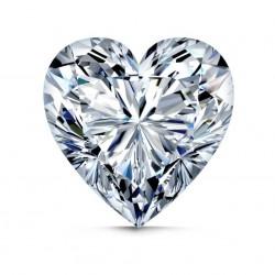 Širdelės formos briliantas 0,098 ct su LPR sertifikatu