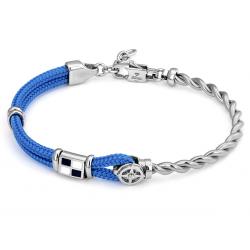 Nerūdijančio plieno H2on apyrankė su mėlyna virve