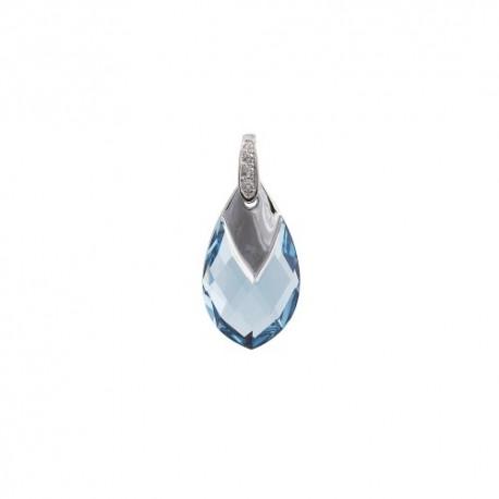Pakabukas auskarams MARMARA, sidabrinis su Swarovski elementais