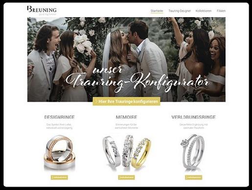 Vestuvinių žiedų konfiguratorius